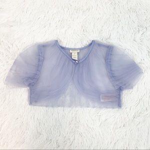 Monsoon girl 7/8 sheer mesh cardigan shrug